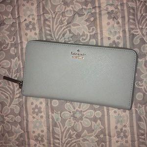 Shimmer blue Kate spade wallet